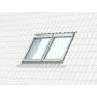 Raccordo gemellato a = 18 mm 55 cm x 78 cm Profili in zinco al titanio per materiali di copertura profilati fino a 120 mm Montaggio standard (linea rossa)