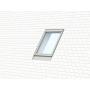 Raccordo singolo 78 cm x 98 cm Profili in zinco al titanio per materiali di copertura piani fino a 16 mm (2x8 mm) Montaggio profondità (linea blu)