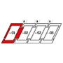 Raccordo combi a = 100 mm 78 cm x 140 cm Profili in alluminio per materiali di copertura piani fino a 16 mm (2x8 mm) Montaggio standard (linea rossa)