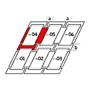 Raccordo combi a = 100 mm / b = 100 mm 55 cm x 98 cm Profili in alluminio per materiali di copertura piani fino a 16 mm (2x8 mm) Montaggio standard (linea rossa)