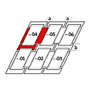 Raccordo combi a = 160 mm / b = 250 mm 134 cm x 160 cm Profili in rame per materiali di copertura piani fino a 16 mm (2x8 mm) Montaggio standard (linea rossa)
