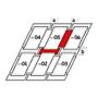 Raccordo combi a = 100 mm / b = 250 mm 134 cm x 160 cm Profili in rame Montaggio standard (linea rossa)