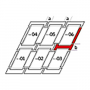 Raccordo combi b = 250 mm 55 cm x 98 cm Profili in rame per materiali di copertura piani fino a 16 mm (2x8 mm) Montaggio profondità (linea blu)