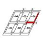 Raccordo combi b = 250 mm 134 cm x 160 cm Profili in alluminio per materiali di copertura profilati fino a 120 mm Montaggio standard (linea rossa)