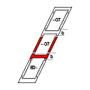 Raccordo combi b = 100 mm 55 cm x 118 cm Profili in rame per materiali di copertura piani fino a 16 mm (2x8 mm) Montaggio standard (linea rossa)