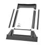 Raccordo prefabbricato per sostituzione 114 cm x 118 cm Profili in zinco al titanio per materiali di copertura piani fino a 16 mm (2x8 mm)