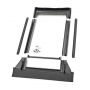 Raccordo prefabbricato per sostituzione 55 cm x 78 cm Profili in rame per materiali di copertura piani fino a 16 mm (2x8 mm)