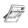 Finestra con apertura a bilico 78 cm x 180 cm Legno di pino laccato bianco Profili esterni in rame Vetro doppio Thermo 1 VELUX INTEGRA® Solar automatica
