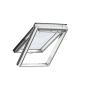 Finestra con apertura a vasistas 55 cm x 98 cm Legno di pino laccato bianco Profili esterni in alluminio Vetro triplo Thermo 2